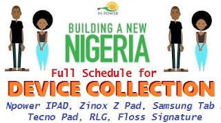 N-Power 2017/2018 Device Collection Center & Address In Lagos State