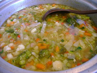 Healthy Weight Watchers Fresh Vegetable Soup image