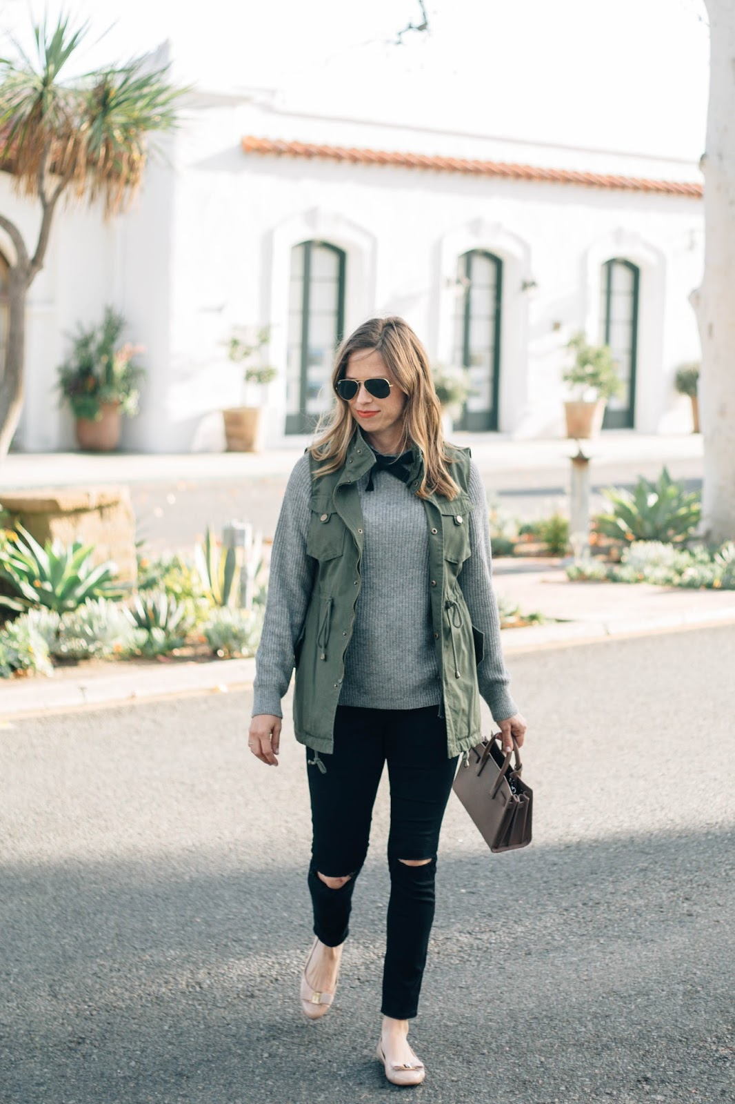 bow sweater outfit