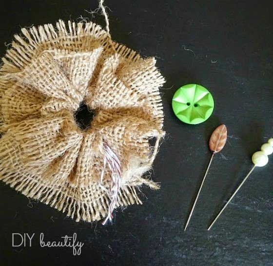 How to make a thrifty burlap pumpkin | diy beautify