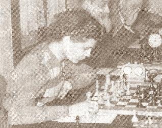 La ajedrecista Pepita Ferrer Lucas en su juventud