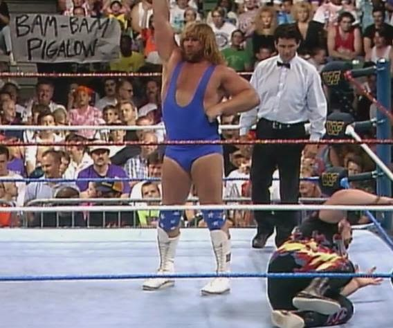 WWF / WWE King of the Ring 1993: Hacksaw Jim Duggan lost to Bam Bam Bigelow (Pigelow) in the quarter finals