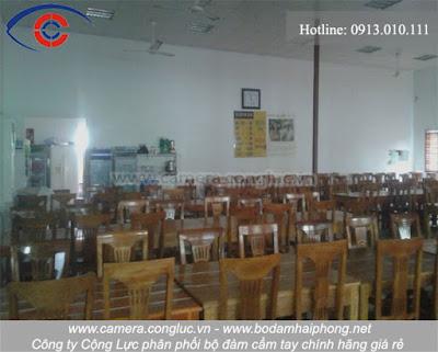 Diện tích rộng và khang trang bên trong nhà hàng Hàn Quốc, Cái Dăm, Quảng Ninh.