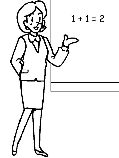 coloring pages of teachers - photo#22