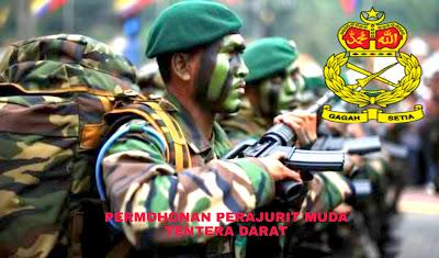 Permohonan Perajurit Muda Tentera Darat 2019 Online