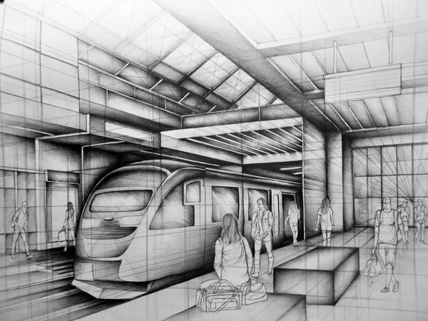 07-Subway-Station-Marlena-Kostrzewska-Interior-Design-and-Architecture-in-Pencil-Drawings-www-designstack-co