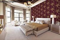 Tư vấn cách phối màu cho giấy dán tường phòng ngủ