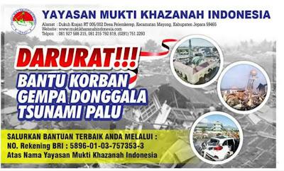 Yayasan Mukti khazanah indonesia peduli Palu