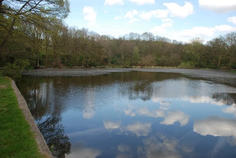 The Ornamental Lake at Worsley New Hall