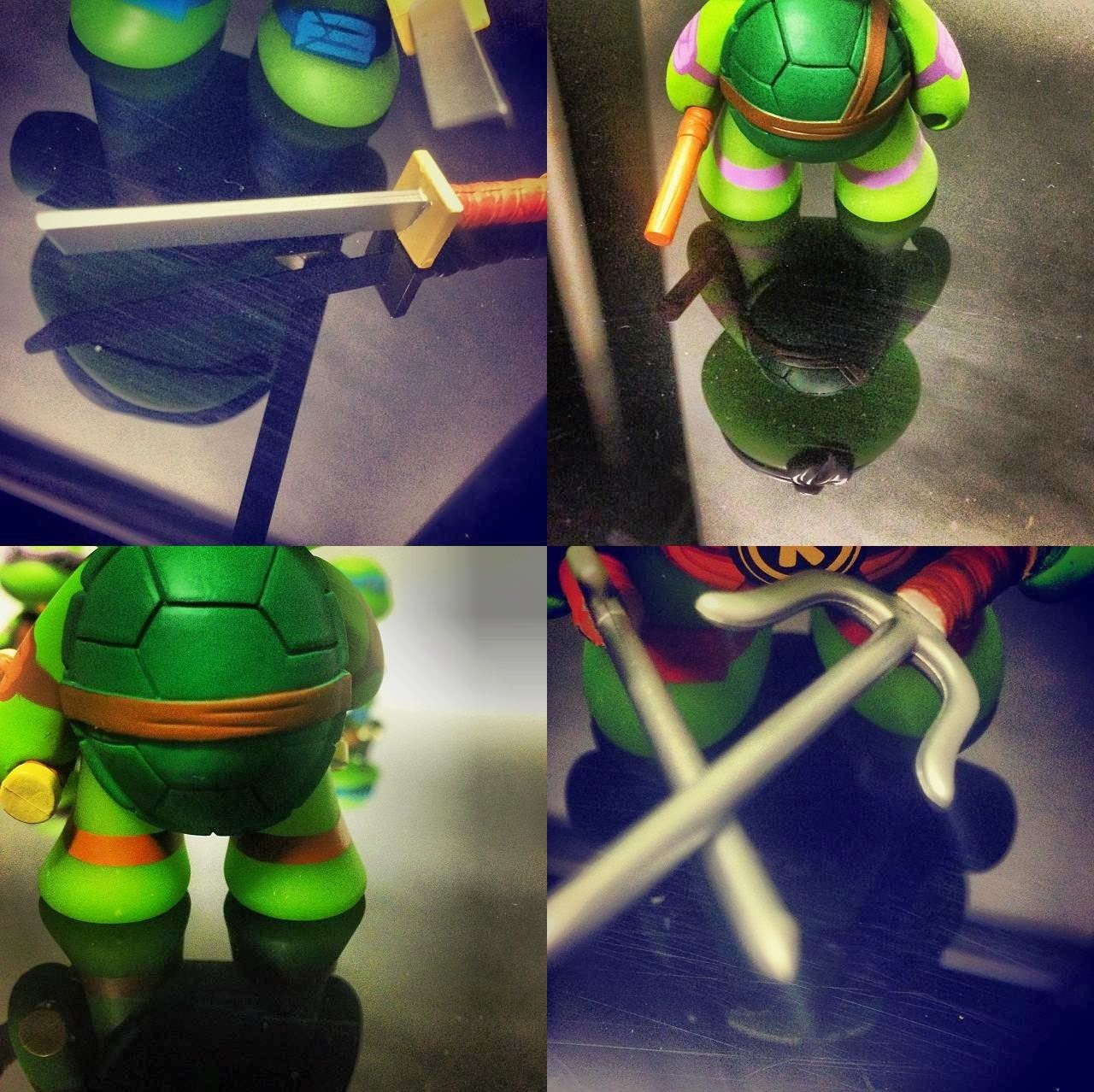 Teenage Mutant Ninja Turtles Vinyl Figures Teaser Images by Kidrobot - Leonardo, Donatello, Michelangelo and Raphael