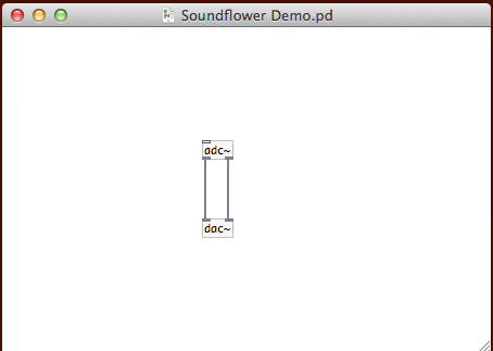 Use Soundflower to Route Mac System Audio into Pure Data (or