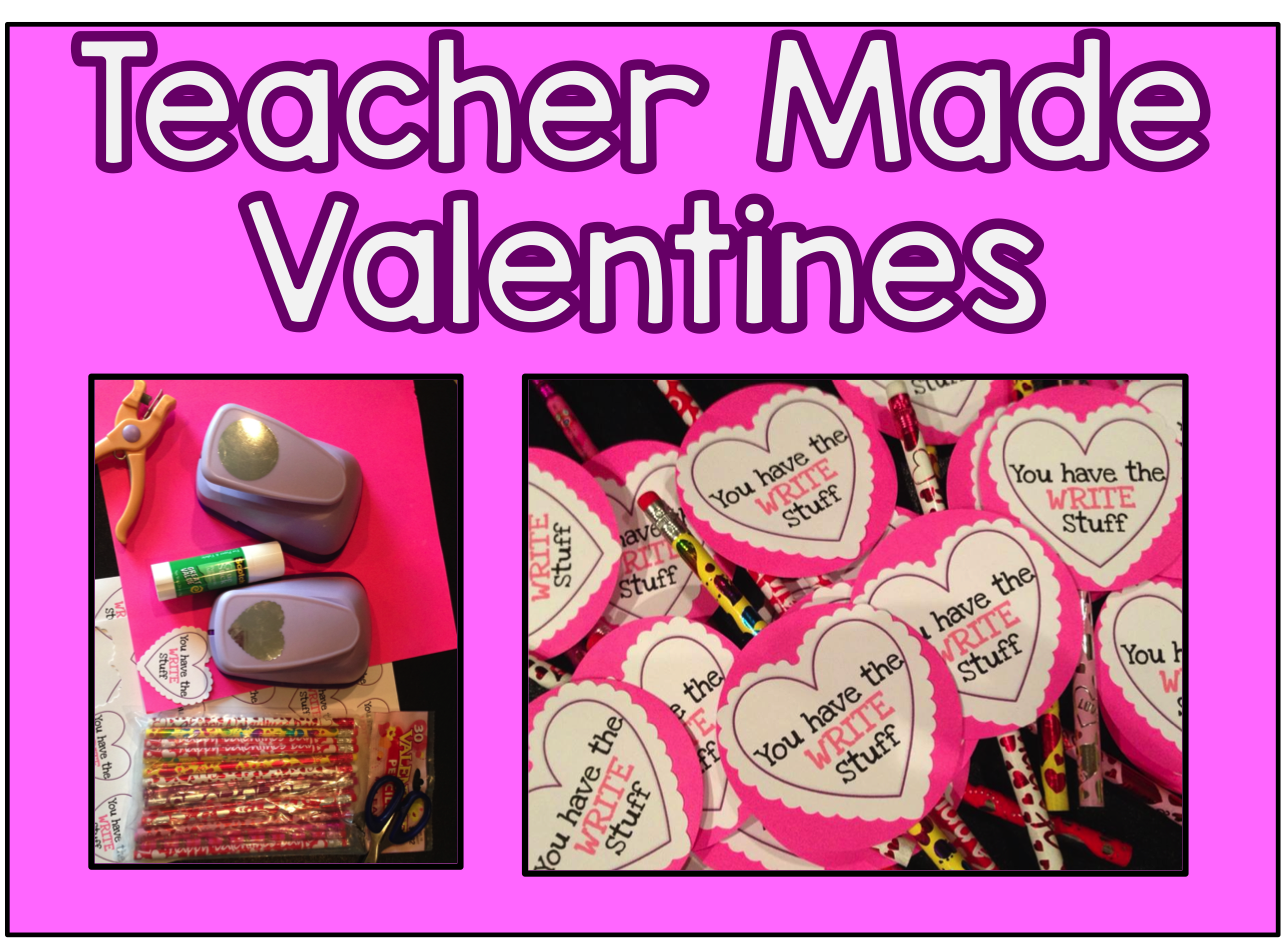 Free Teacher Valentines- No time to create your own.  All you need are some pencil and a printer.  Just print, cut and attach.