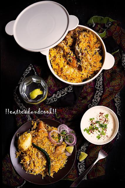 chicken biryani preperation