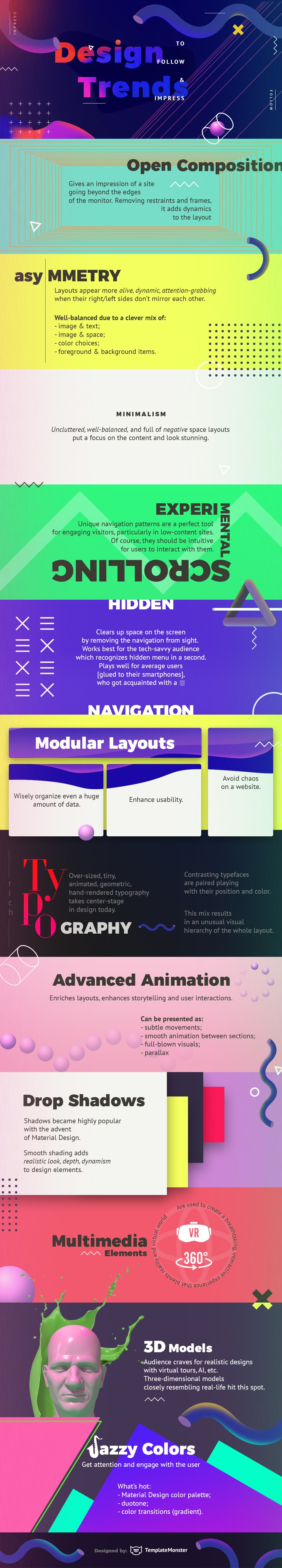 Design Trends to Follow and Impress #infographic