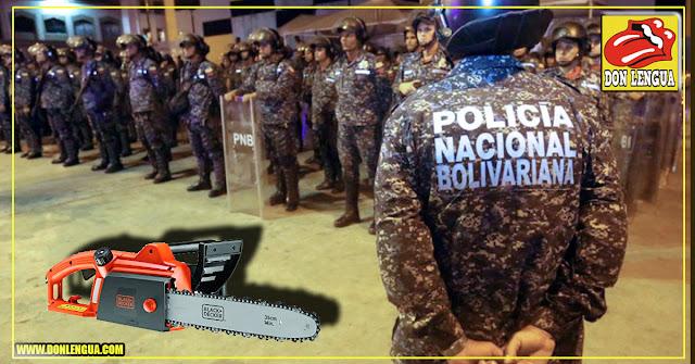 detenidos 2 PNB que cortaban cabezas de personas con moto-sierras