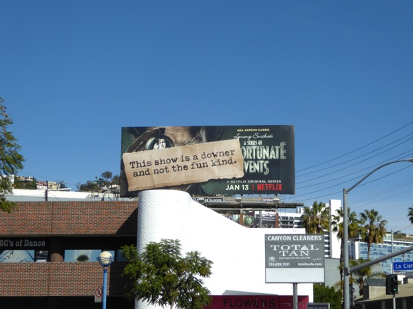 Unfortunate Events TV series teaser billboard