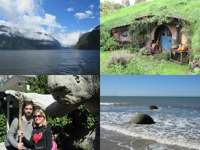 Collage de fotos de Nueva Zelanda