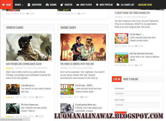 Game Leon Wordpress Theme Free Download
