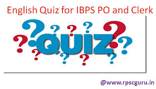 English Quiz for IBPS and SBI Bank Exams