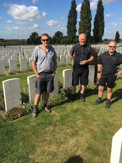 The cyclists at Tyne Cot Cemetery (photo David D)