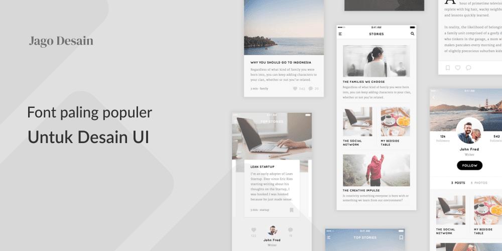 Font Populer Untuk Desain UI