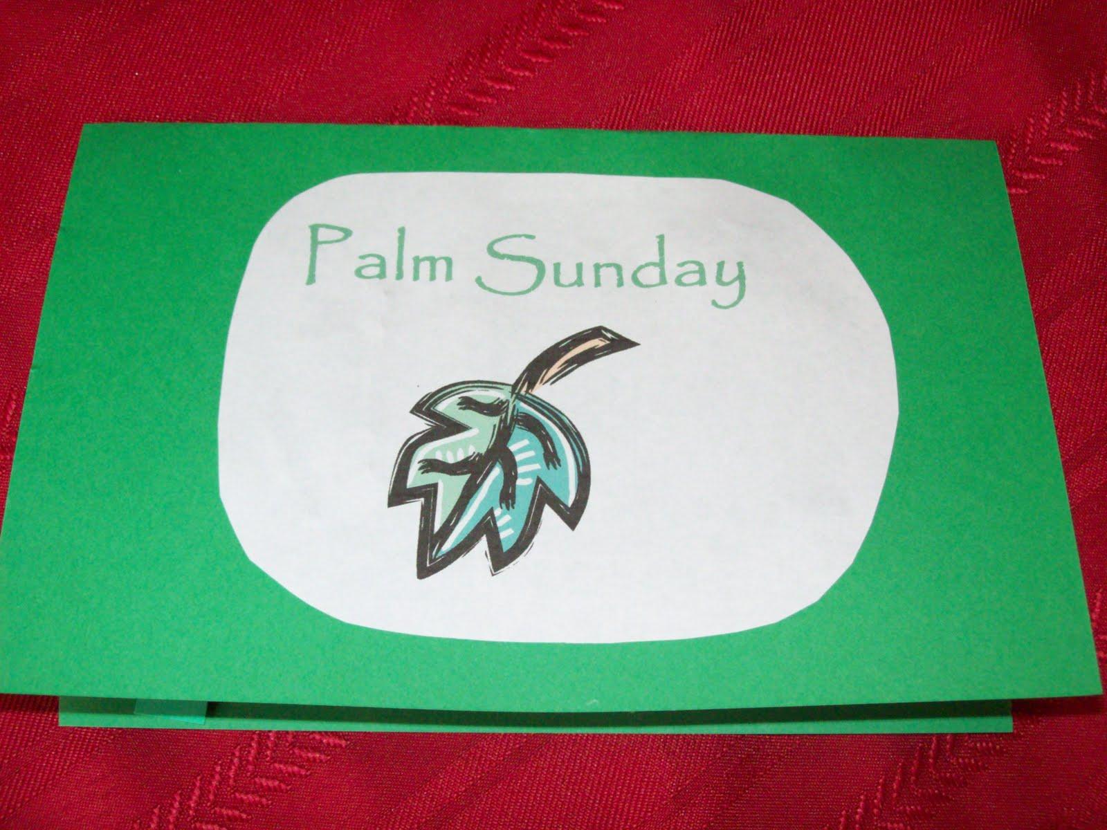 April S Homemaking Palm Sunday Mini Book Craft
