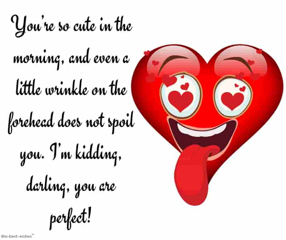 cute good morning text messages with heart love face
