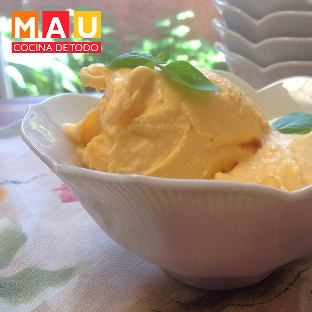 nieve helado de mango facil
