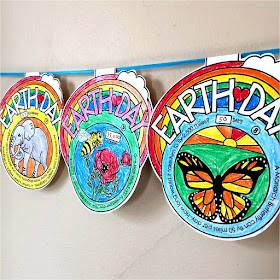 Earth Day Math Pennant Activity