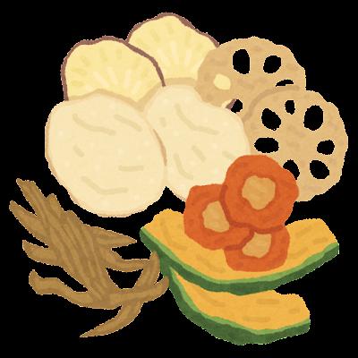 野菜チップスのイラスト