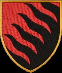 нарукавна емблема 55-ї артилерійської бригади Запорізька Січ