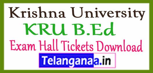 Krishna University KRU B.Ed Exam Hall Tickets Download