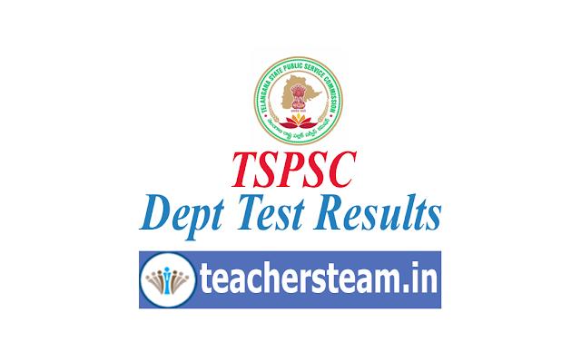 tspsc Dept Test Results