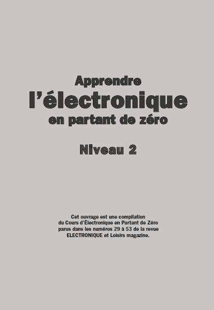 Apprendre l'électronique en partant de zéro Niveau 2 pdf gratuit