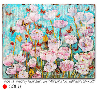 flower painting | peony painting by miriam schulman | https://www.schulmanart.com