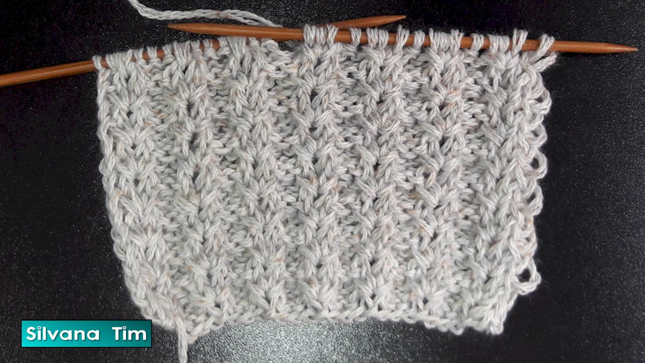 Silvana tim tejido con dos agujas puntos patrones de tejido - Puntos para tejer con dos agujas ...
