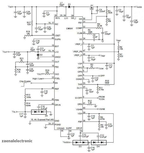t con board circuit diagram