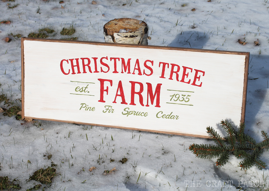 Christmas Tree Vintage Wooden Sign Thecraftpatchblog Com