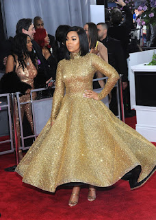 Ashanti At Grammy 2018 Awards In New York