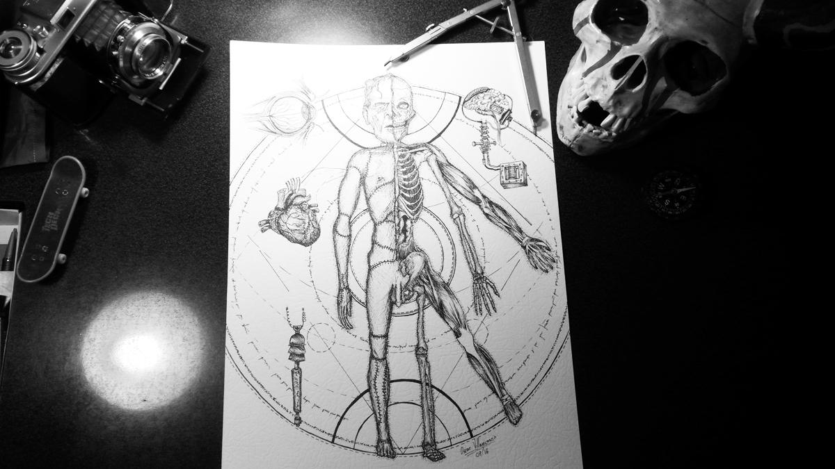 La creación del Monstruo Frankenstein