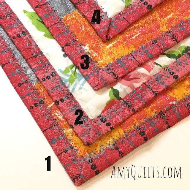 turning the corner with the quilt binding attachment