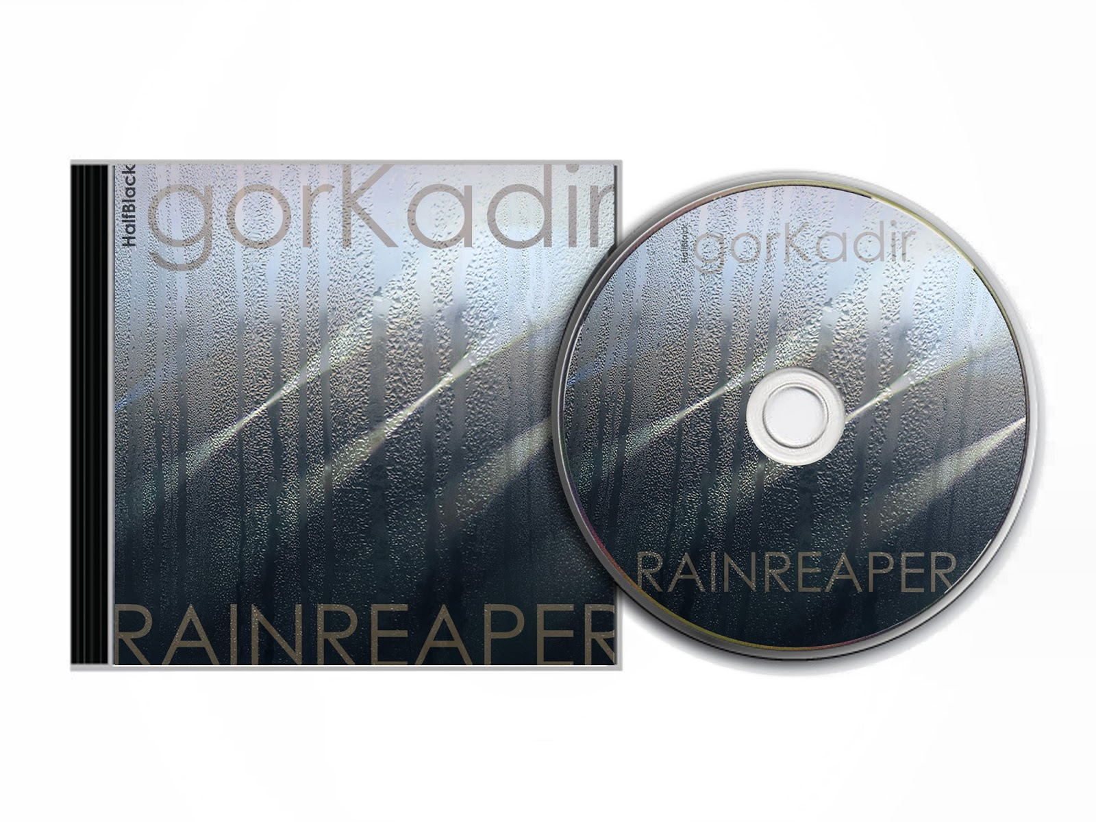projekty graficzne Urbaniak Kadir rainreaper half black okładki płyt