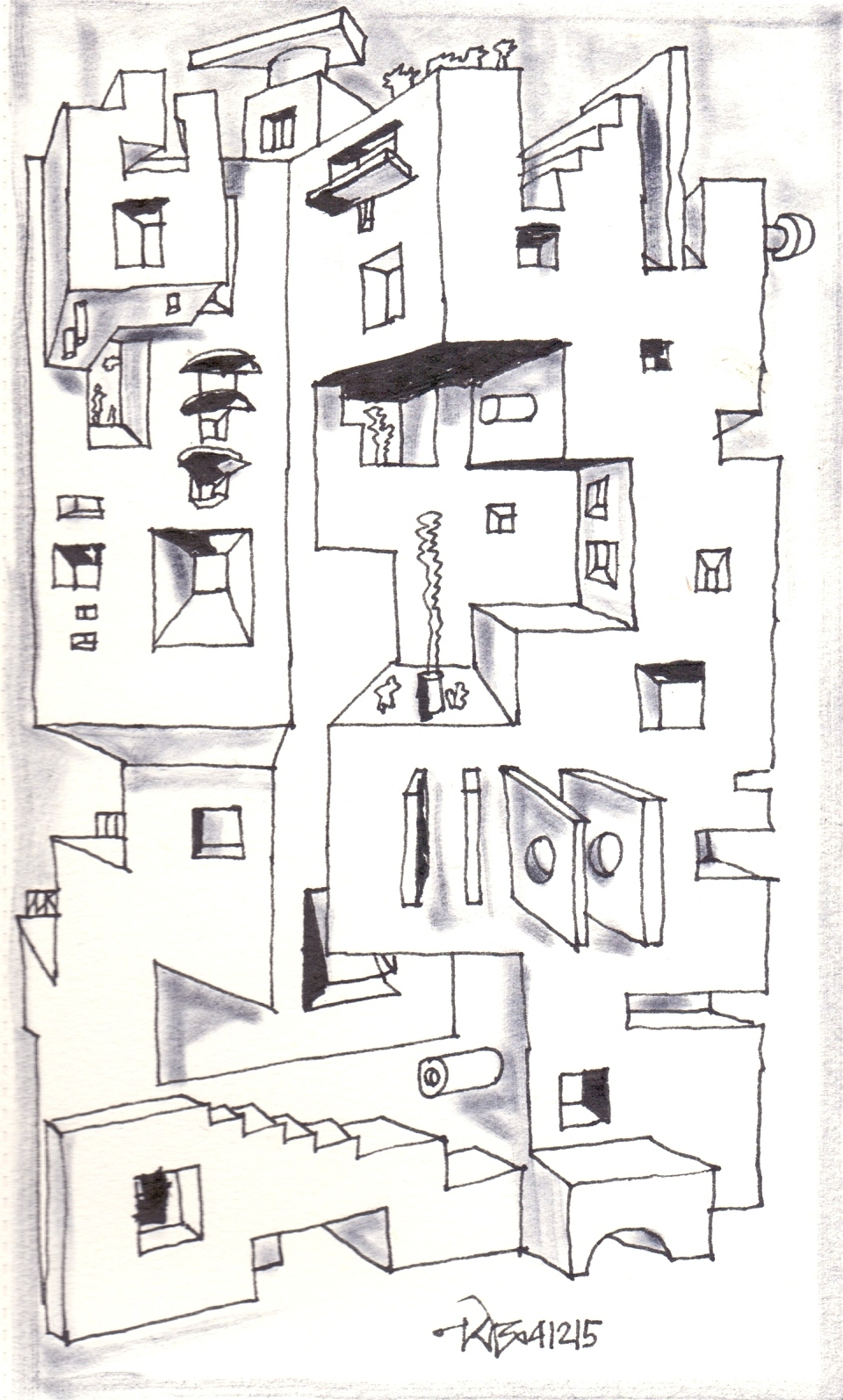 Narendra Dengle: Drawings December 2015