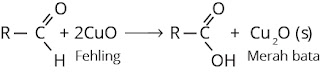 reaksi aldehid dengan larutan fehling