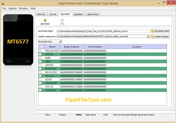 How to flash Mtk MT6577 Flash Tool Download