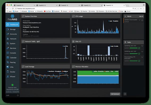 FreeNAS 10 Beta 2 dirilis apa saja yang baru