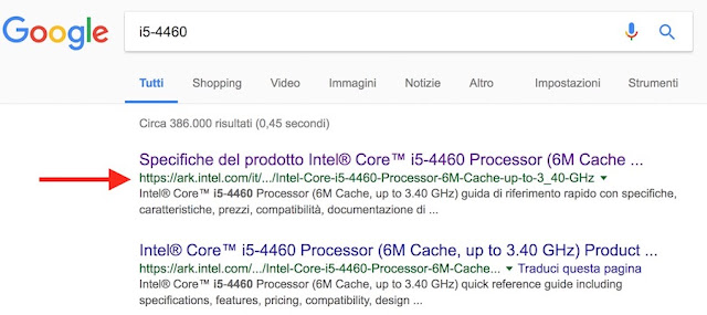 controllo da google cpu pc 32 o 64 bit