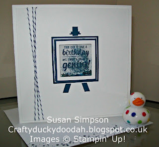 Stampin' Up! Made by Susan Simpson Independent Stampin' Up! Demonstrator, Craftyduckydoodah!, Painter's Palette, Delightful Denim,
