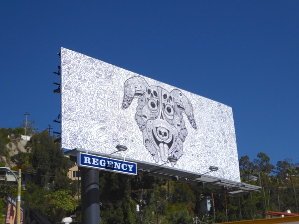 Mr Pickles skull design Adult Swim billboard