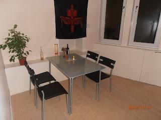 Glasgow-i lakás étkező